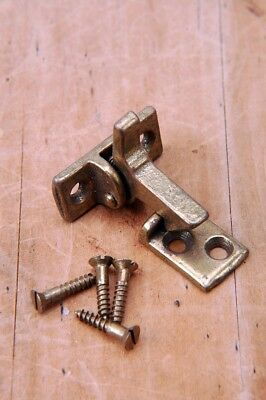 Antique NOS Cabinet Hardware Elbow catch Latch Brass Finish AH06061609