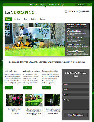 Landscaping & Lawn Care Business Website for Professional Landscaper Service