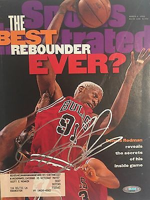Dennis Rodman Autographed Complete Sports Illustrated Magazine Tristar Holo