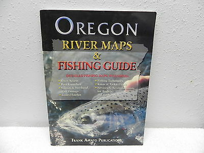 OREGON RIVER MAPS & FISHING GUIDE: Detailed Maps; Softcover, large, c2004; Amato