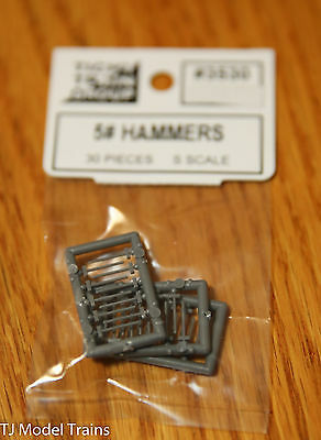 Tichy Train Group #3530 (S Scale) 5# Hammers (30 in pkg) Plastic Parts