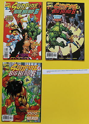 SUNFIRE & BIG HERO SIX #1,2,3 Marvel 1998 Disney Pixar Animated Movie VF+,VF/NM