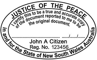 NSW00 JUSTICE OF THE PEACE NSW Custom Flash Stamp Pre & Self Inking Refillable
