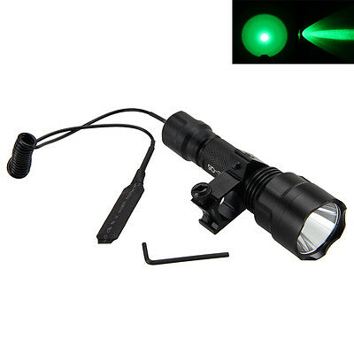 4000LM XML Q5 LED Light Tactical Hunting Flashlight Torch Rifle Mount 18650 Lamp