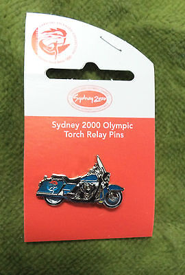 #p171.  Torch  Relay  Escort  Motorcycle Sydney 2000 Olympic Pin