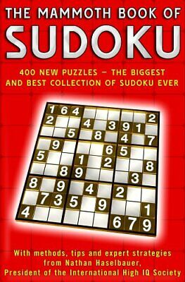 The Mammoth Book of Sudoku by Haselbauer, Nathan Paperback Book The Cheap Fast