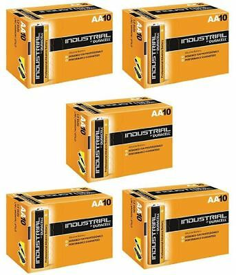 50 X Duracell AA Industrial Battery MN1500 Alkaline Replaces Procell Long Expiry
