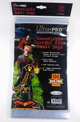 Ultra Pro Resealable Current Size Comic Bags (100 Stück)