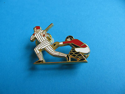 Baseball Players Pin Badge, VGC. Enamel. Arthus Bertrand