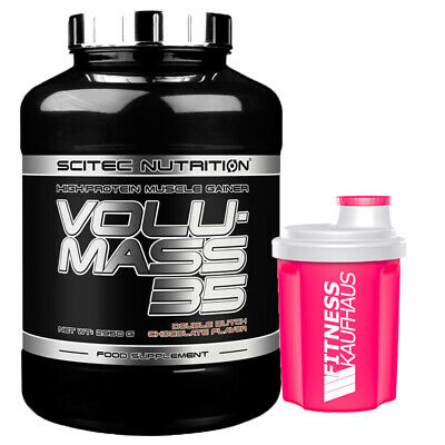 (15,58 EUR/kg) Scitec Nutrition Volumass 35 - 2950g Weight Gainer + Shaker