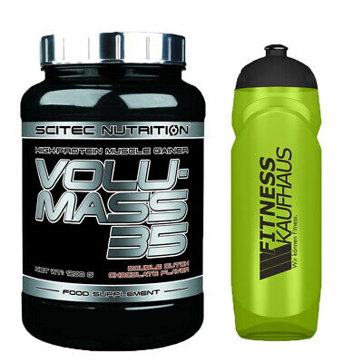 (24,92 EUR/kg) Scitec Nutrition Volumass 35 - 1200g Weight Gainer + Trinkflasche