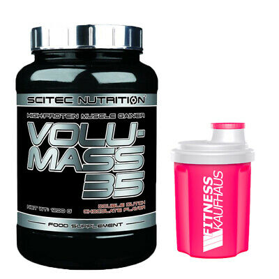 (24,92 EUR/kg) Scitec Nutrition Volumass 35 - 1200g Weight Gainer + Shaker
