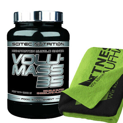 (24,92 EUR/kg) Scitec Nutrition Volumass 35 - 1200g Weight Gainer + Handtuch NEU