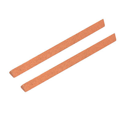 240 Grit Abrasive Grinding Triangle Polishing Oil Stone Stick Red 2pcs