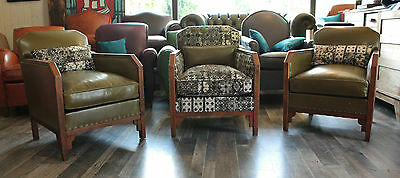 3 Chairs  Club Art Deco 1950Th