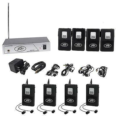 Peavey ALS 75.9 Mhz Assisted Listening System+4 Receivers+4 Additional Receivers