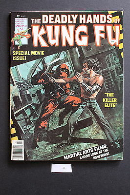 DEADLY HANDS KUNG-FU #23 1st full JACK OF HEARTS Iron Fist White Tiger FN/VF 7.0