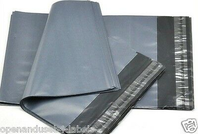 """GREY MAILING BAGS 305 x 406mm 12 x 16"""" 100 x SMALL PACKET POLYTHENE SELF SEAL"""