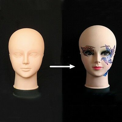Cosmetology Makeup Massage Train Mannequin Wig Eyelash Lip Practice Doll Head