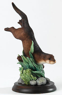 A23986 Border Fine Arts Studio Otter Swimming Figurine NEW 17919