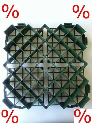 Lawn Grid Grass Pavers Plastic Travel Limit Driveway 39,5cmx39,5cm