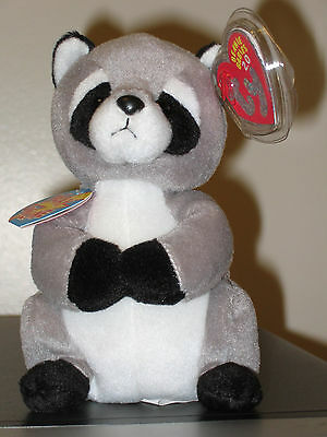 Ty Beanie Baby BB 2.0 ~ RICKY the Raccoon ~ MINT with MINT TAGS ~ Stuffed Animal