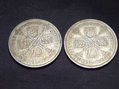 1933 & 1936 King George V One Florin Coins