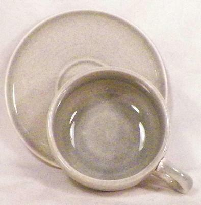 Russel Wright American Modern Cup & Saucer Granite Gray Steubenville Vintage