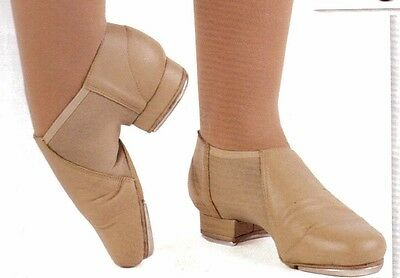 NEW Leather Neoprene Tap Boot ch/ladies sizes #3523 Tan Taps Attached JF Accent