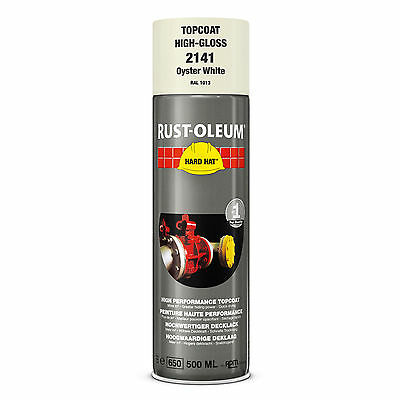 x10 Industrial Rust-Oleum Oyster White Spray Paint Hard Hat 500ml RAL 1013