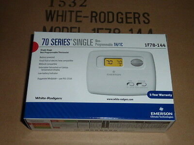 NEW White Rodgers Emerson 1F78-144 70 Series Single Stage Thermostat