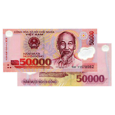 Vietnam 50,000 (50000) Dong VND UNCIRCULATED UNC Polymer Banknote