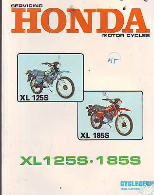 Honda Xl185S Xl125S  Workshop Service Repair Manual  1980 New