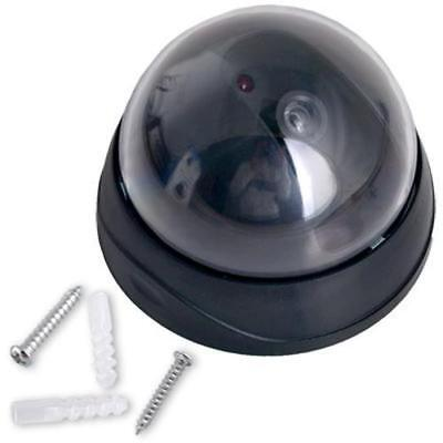 Dummy Fake Surveillance CCTV Security Dome Simulated Decoy Camera with LED Light