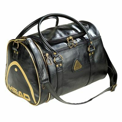Head St MORITZ Gym Bag Overnight Travel Holdall Sports Luggage RETRO Black Gold
