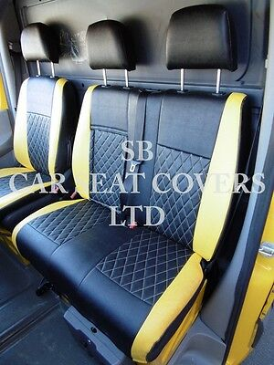To Fit A Mercedes Sprinter Van 2013, Seat Covers, Rossini Diamond Yellow/Black