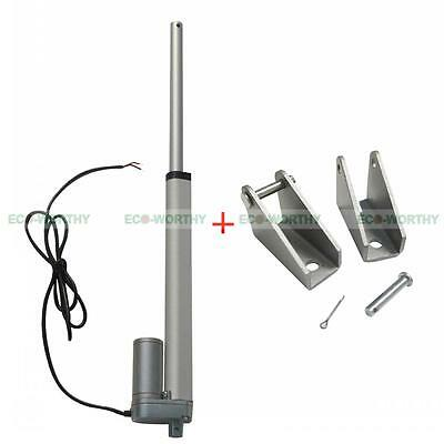 """10"""" 12V Linear Actuator Motor With Mounting Brackets for Electric Booth Lift"""