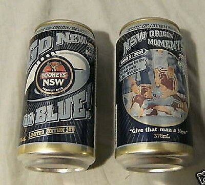 #ZZ.  TWO STATE OF ORIGIN  BEER  CANS - Game 2/2001, EMPTY