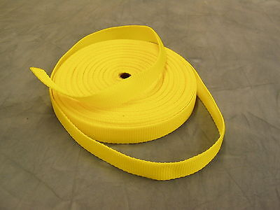 Strong Heavy Duty Webbing 25mmx5mtrs YELLOW For Harnesses Weight Belts Etc