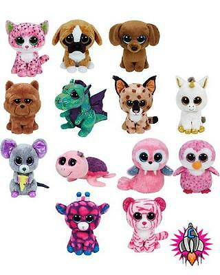 Ty Beanie Boos Boo Babies Soft Toy Plush Sophie Brutus Dougie Squeaker Bnw