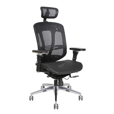 Thornton's ErgoExec High Back Mesh Executive Swivel Office Chair, Black
