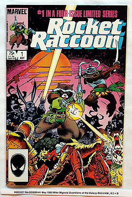 ROCKET RACCOON #1 May 1985 Mike Mignola Guardians of the Galaxy Strict NM-, 9.2