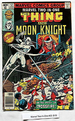 Marvel Two-In-One #52 PEREZ Moon Knight 1979 1st William Cross CROSSFIRE FN 6.0