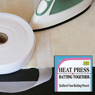 """Heat Press Batting Together - White-1.5""""X100yd"""