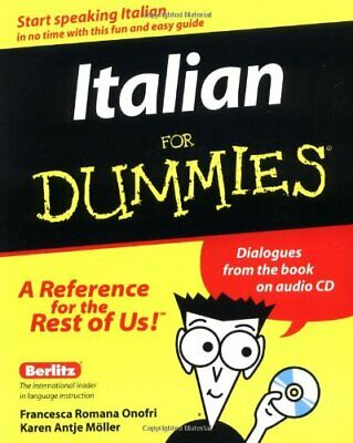Italian For Dummies by M�ller, Karen Antje Paperback Book The Cheap Fast Free
