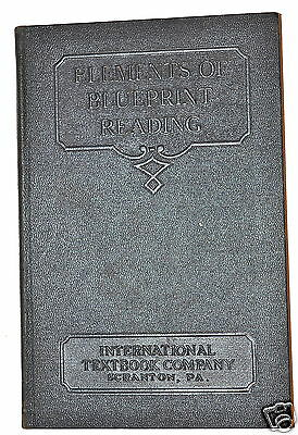 ELEMENTS OF BLUEPRINT READING  Book by Staff 1927 #RB240 machinists & engineers