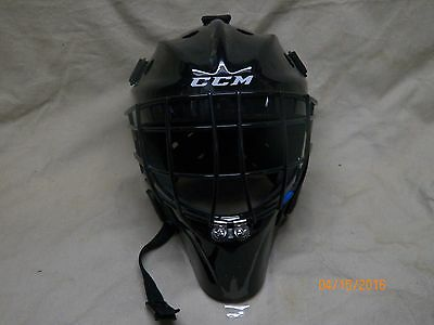New CCM 7000 youth black hockey goalie helmet