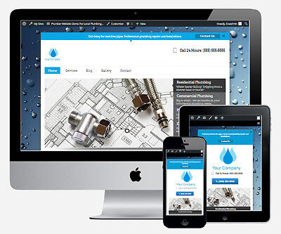 Pro Plumbing Business Website for Professional Plumber Service Free Web Hosting