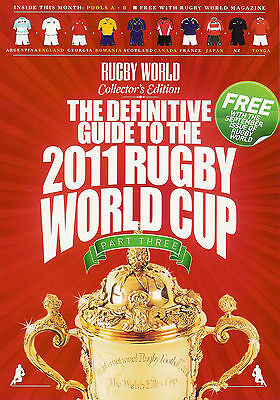 Rugby World Guide to the World Cup (2011) - set of 3 magazines