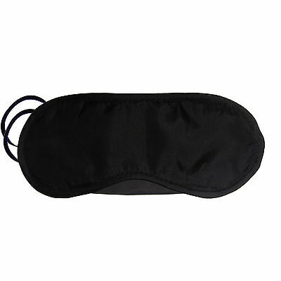 Sleeping Eye Mask Travel Blindfold Shade Blinder Soft Elasticated Rest Aid Uk